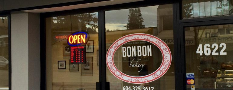 bon bon bakery in Hastings Burnaby